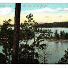 CJ08. Vintage Canadian Postcard. Lady Evelyn Lake. On the C.P.Railway
