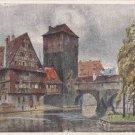 CJ89.Vintage Postcard. Hangman's Bridge, Henkersteg, Nuremberg. Germany