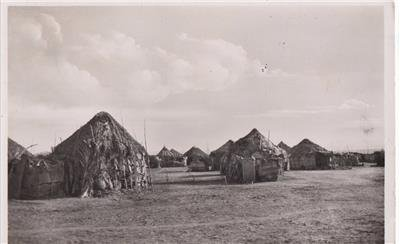CN19. Vintage Postcard. Djibouti. Native Village showing the local huts.