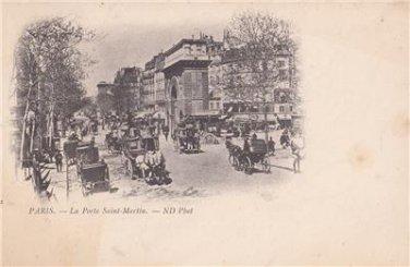 CO66.Vintage French Postcard. La Porte Saint Martin. Paris, France