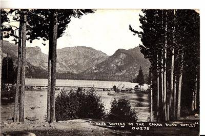 CQ05.Vintage Postcard. Head waters of the Grand River. Colorado. US