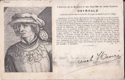CI02.Vintage French Postcard.Grimoald the Elder.Mayor of the Palace of Austrasia