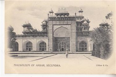 CM53.Vintage Undivided Postcard. Mausoleum of Akbar, Secundra. India.