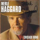 NEW MERLE HAGGARD AUTOGRAPHED CD CHICAGO WIND