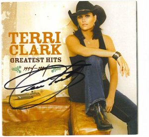 AUTOGRAPHED TERRI CLARK GREATEST HITS CD Signed RARE