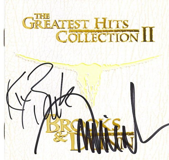 HOT BROOKS & DUNN AUTOGRAPHED GREATEST HITS VOL 2 CD
