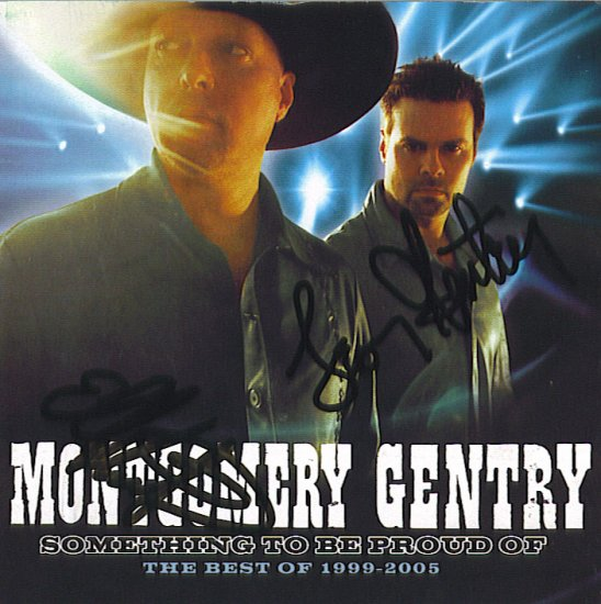 Autographed MONTGOMERY GENTRY Greatest Hits CD NEW