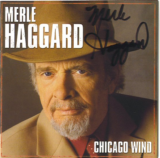 Autographed Merle Haggard Signed CD ON SALE