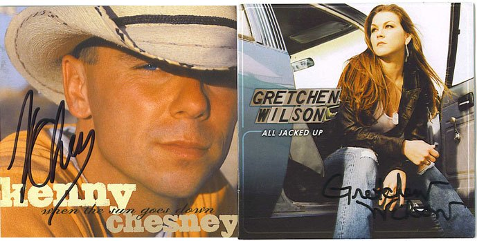 Kenny Chesney and Gretchen Wilson Autographed CD Signed