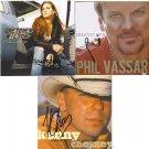 Kenny Chesney Gretchen Wilson & Phil Vassar Autographed CD's