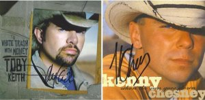Toby Keith and Kenny Chesney Autographed CD's Signed