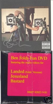 BEN FOLDS SIGNED SUPERSUNNYSPEEDGRAPHIC w/DVD