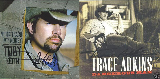 Autographed Toby Keith and Trace Adkins New CD's Signed AUTOGRAPHED CD'S