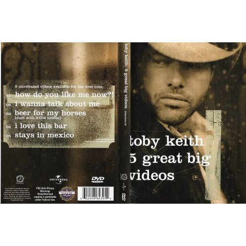 Toby Keith 5 Great Big Videos DVD New & Sealed