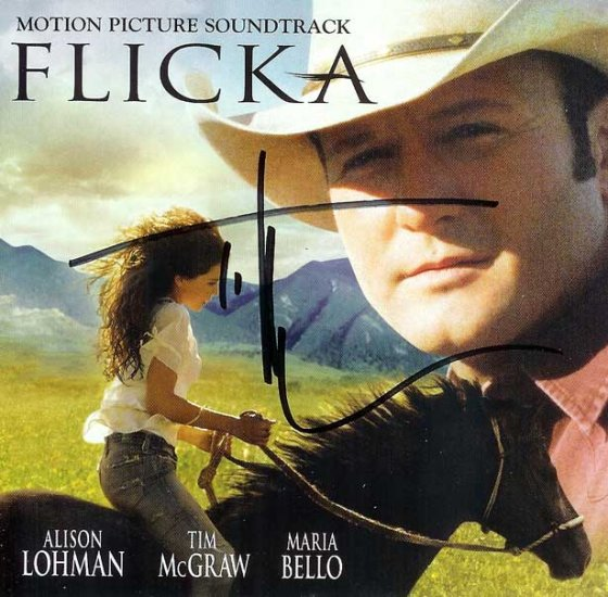 AUTOGRAPHED Tim McGraw Flicka CD Signed CHEAP!
