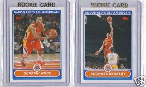 RARE 2007 Topps McDonald's All American Basketball Complete Set. Beasley, Rose, Mayo RC's