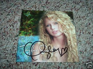 Taylor Swift Autographed CD Signed HOT Tim McGraw Song