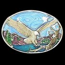 Pewter Belt Buckle - Small Eagle Landing