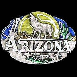 Pewter Belt Buckle - Arizona Howling Wolf