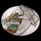 Pewter Belt Buckle - Wyoming Eagle