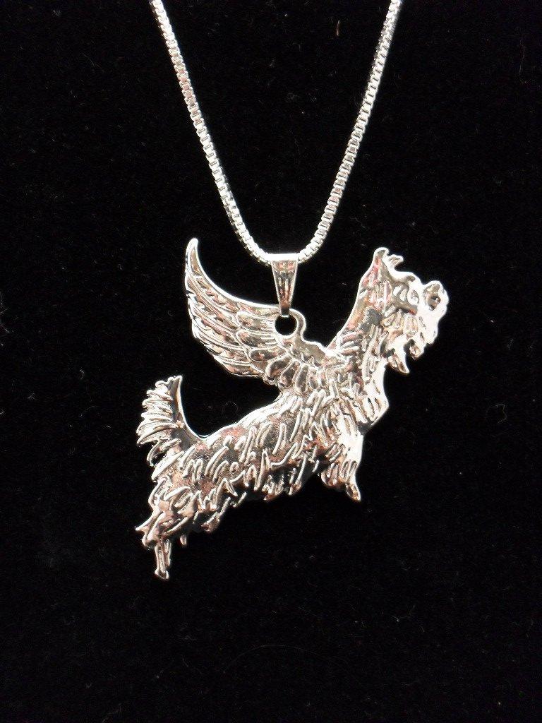 Yorkshire Terrier Angel Yorkie with Wings Yorkie Pendant