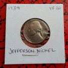 1939 VF-20 Nickel Jefferson