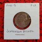 1940 S F-12 Nickel Jefferson