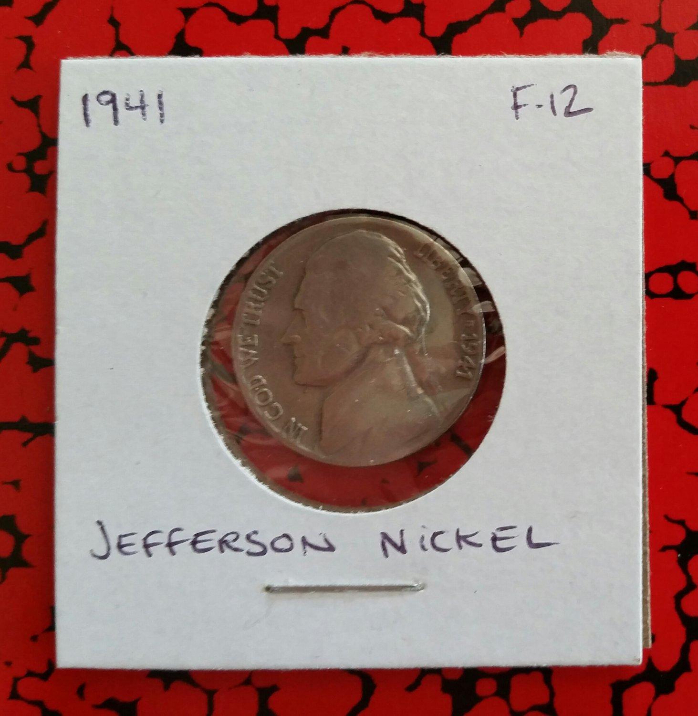 1941 F-12 Nickel Jefferson