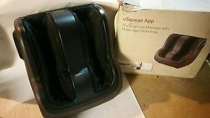 BROOKSTONE OSIM uSqueez App-Controlled Foot & Calf Massager OS-322IV