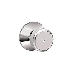 Schlage F40 BWE 625 Bowery Privacy Lock Knob, Bright Chrome