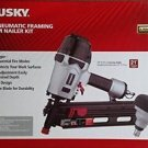 Husky Pneumatic 21° Framing and Mini Palm Nailer Combo Kit Nail Gun Air Tool