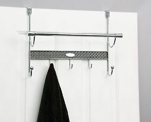 "Samsonite Chrome Over The Door Towel Rod 17""x6.2""x13"""