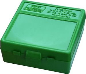 MTM Case Gard� New MTM Plastic Ammo Box 100 Round 38/357 P100-3-10 Solid Green