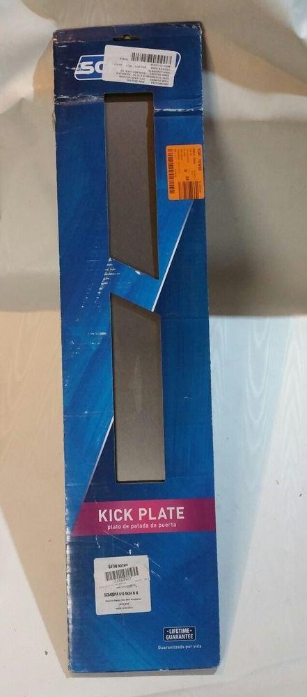 SCHLAGE SC8400PA  619 DOOR  KICK PLATE SATIN NICKEL 8 X 34