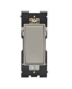 Leviton Renu Switch RE151-WS for Single Pole Applications, 15A-120/277VAC, in Wo