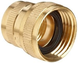 Anderson Metals Brass Garden Hose Fitting, Swivel, NPT Female Hose ID x GHT Fema