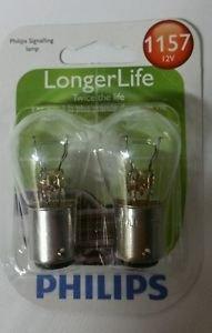 Philips 1157 Long Life Bulbs Front Directional Signal & Parking Light OEM DOT B2