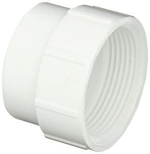 """Spears P105 Series PVC DWV Pipe Fitting, Cleanout Adapter, 1-1/2"""" Spigot x 1-1/2"""