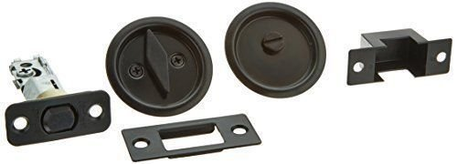 Kwikset 335 Round Bed/Bath Pocket Door Lock in Venetian Bronze