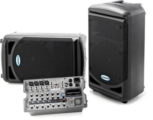 Brand New Samson XP308I 300W Portable PA System With 8 Channel Mixer & iPod Dock