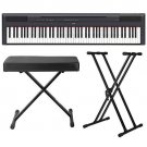 Yamaha P-115 88-Key Digital Piano (Black) with Stand and Bench