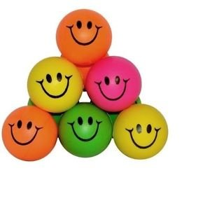 Mini Neon Smile Face Stress Ball