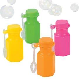 Neon Hexagon Bubble Bottle
