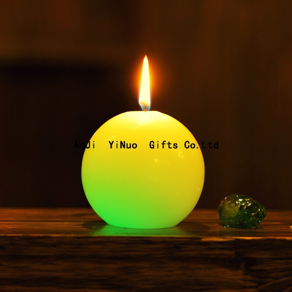 LED Paraffin Wax Flameless Electric Candle with Color Changing Real Flame