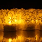Handmade White Lace Embroidery DIY Flameless Tealights 12pack