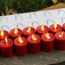 Rechargeable Dancing Flame1.5*2.5 INCH Mini Candle with Remote Control 12pack
