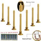 7 Pcs Remote Ready Flameless Moving Wick Taper Candle with Holder and 14 AA batteries
