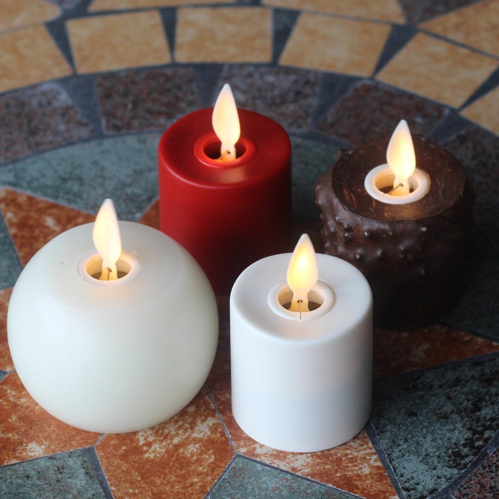 Remote Rechargeable MINI Flameless Candles with Timer SET OF 4
