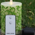 Spring Style Rechargeable Moving Wick Flameless Led Candle with Remote Control