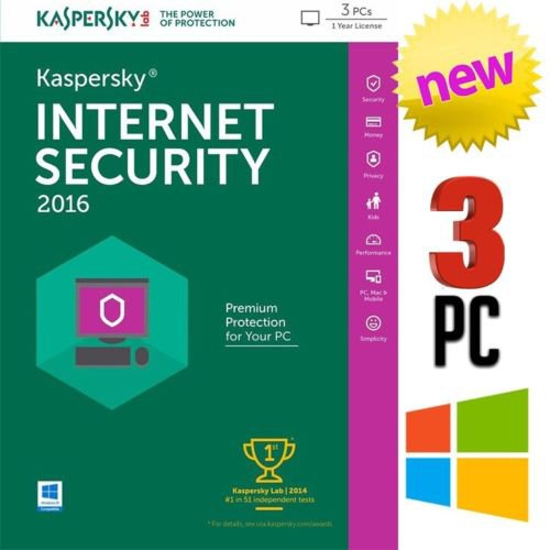 Kaspersky Internet Security 2016 3pc 1year